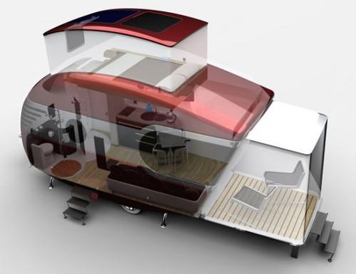 10 caravanas del futuro viviendas temporales y de recreo for Small caravan interior designs