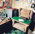 Interior de la cabaña de Roald Dahl