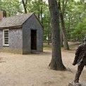 La cabaña de Henry David Thoreau en el lago Walden